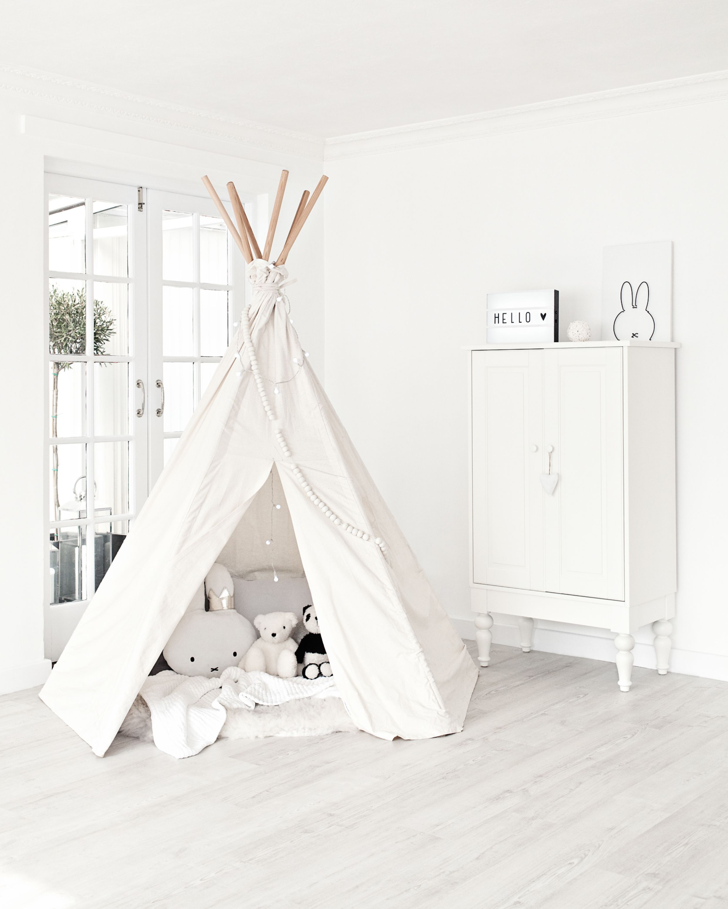 Moozle Big Teepee  Unbleached From Minemine Kids
