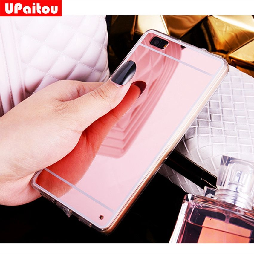 Upaitou For Huawei P8 Lite Cases Luxury Bling Mirror Case For Huawei Ale L21 Back Cover For Huawei P8lite Dual Sim Soft Tpu Case Aff Luxury Mirror Huawei Case