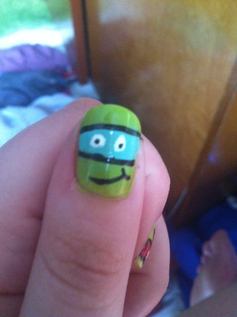 Ninja Turtle nails   My Style   Pinterest