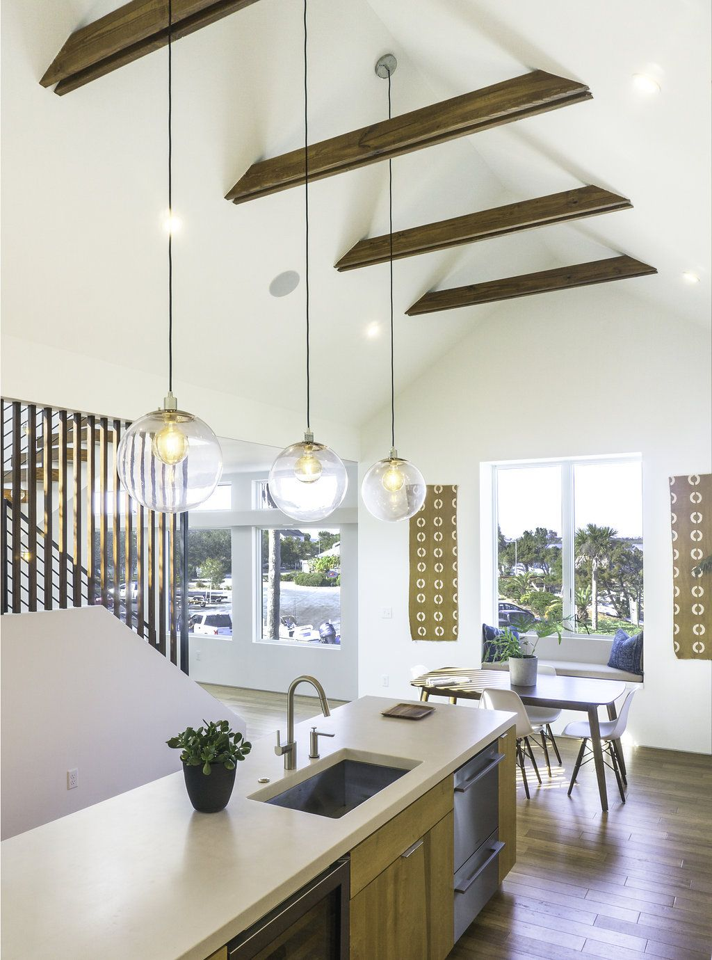 Kitchen with Exposed Collar Ties | The Live Oak House | Pinterest ...