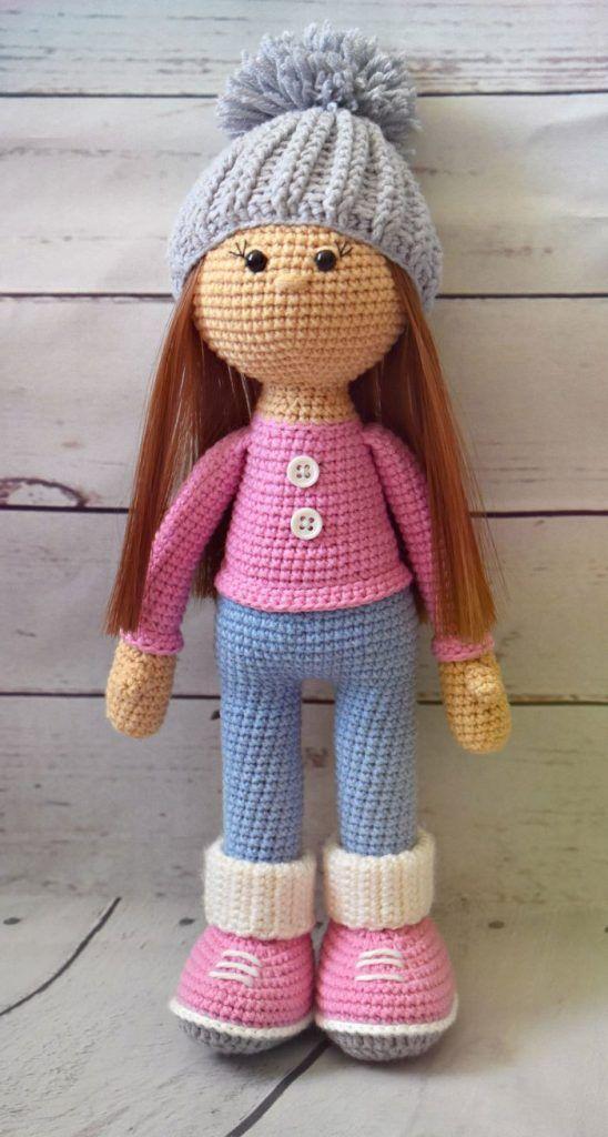 Patrón de Muñeca Crochet Molly Patrón con el paso a paso para hacer ...