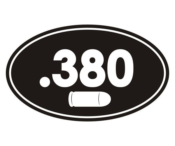 Vinyl Decal Sticker Ammo .380 ebn42 Multiple Patterns /& Sizes