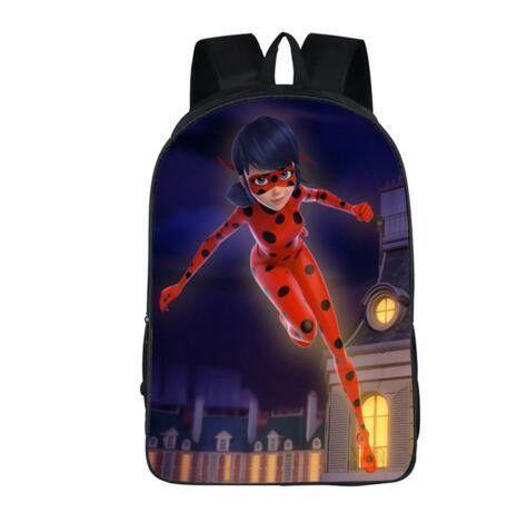 New Print Miraculous Anime Ladybug Child Backpack School Bags Boy Backpack
