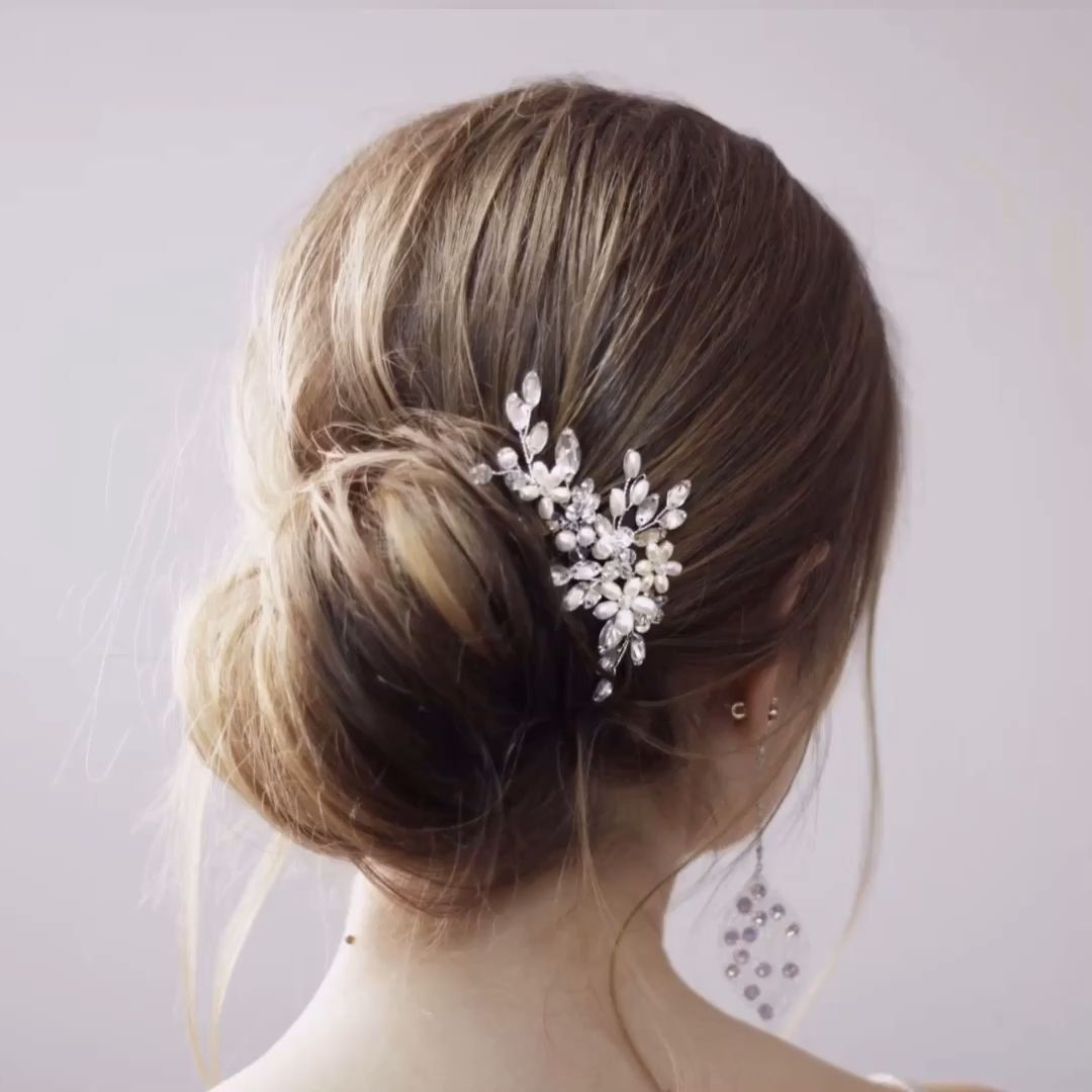 Photo of Bridal hairstyle Wedding hair piece