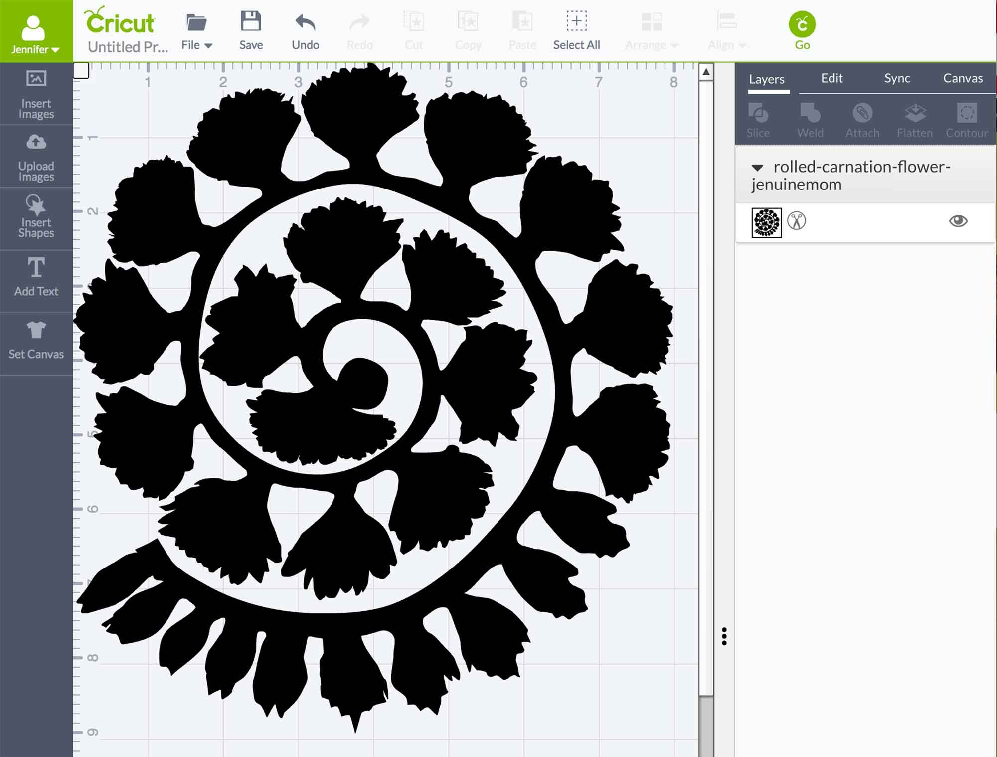 Rolled Paper Carnation Tutorial Free Svg Files Rolled Paper