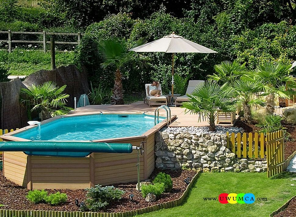 Swimming pool cool swimming pool deck ideas inground swimming pool deck ideas decorating pool Diy resurfacing concrete swimming pool deck ideas