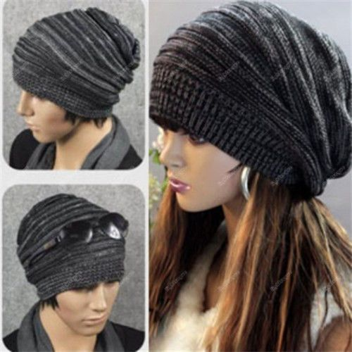 29ee06eb019 Hot Unisex Womens Men Knit Baggy Beanie Beret Hat Winter Warm Oversized Ski  Cap  lightvogue  Beanie
