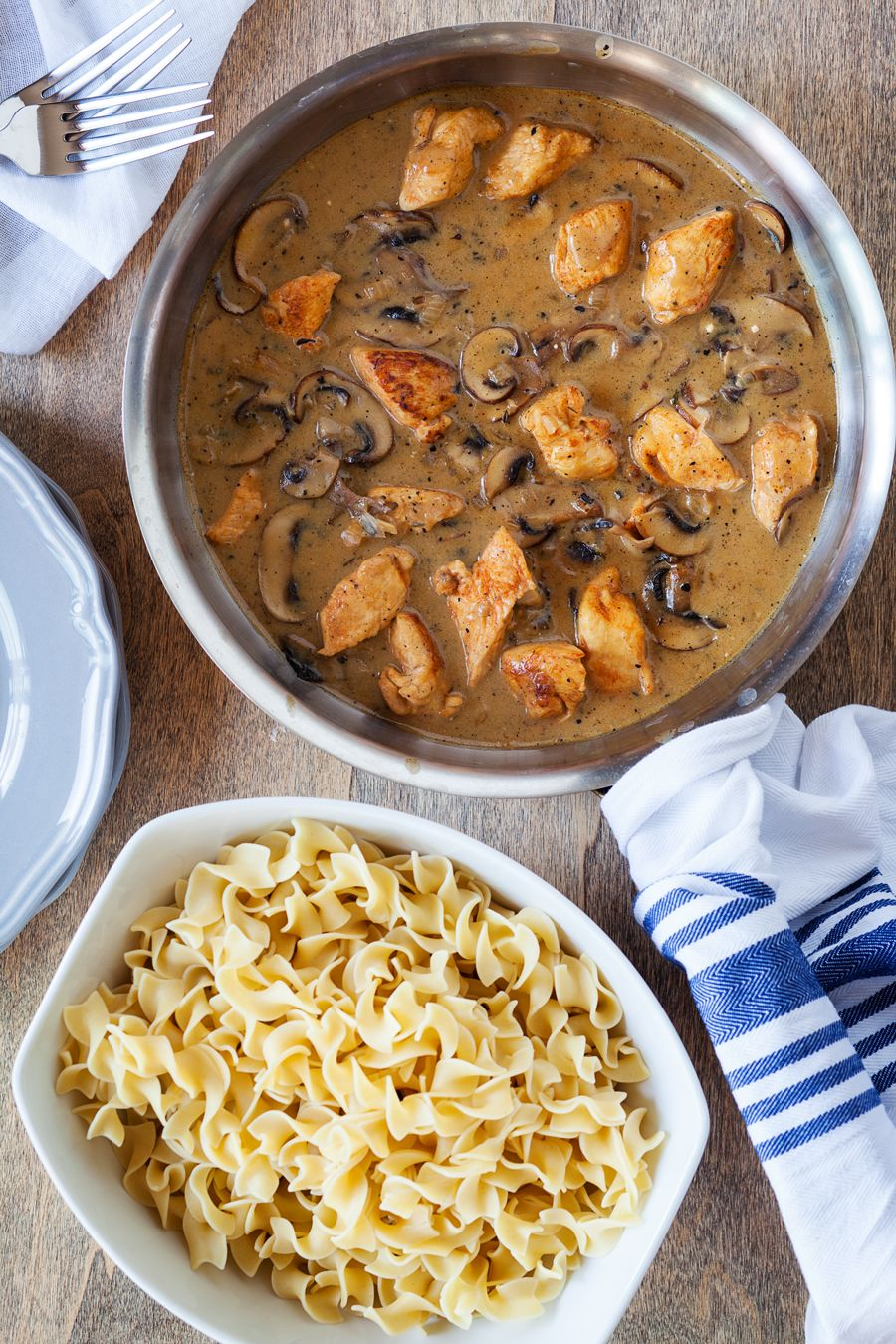 Chicken Stroganoff One of those dishes you will be making again and again... this Chicken Stroganoff recipe is the best!