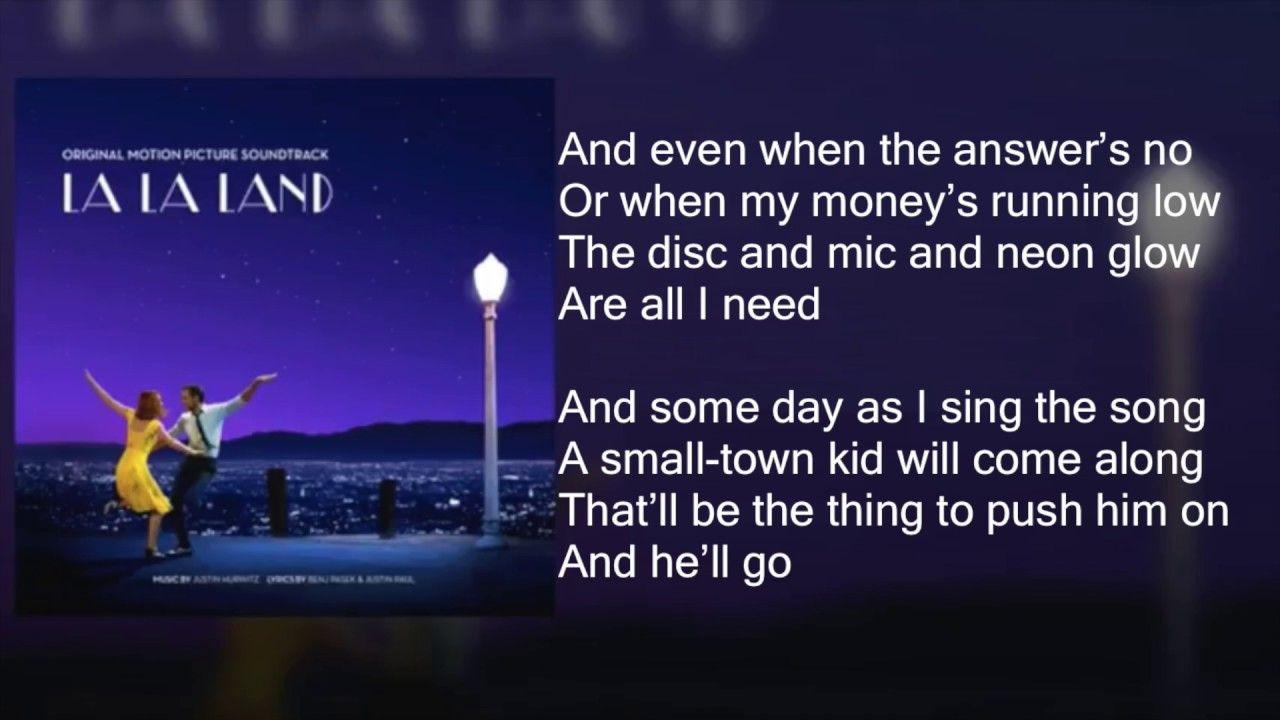 La La Land Another Day Of Sun Lyrics City Of Stars Lyrics La La Land Lyrics La La Land