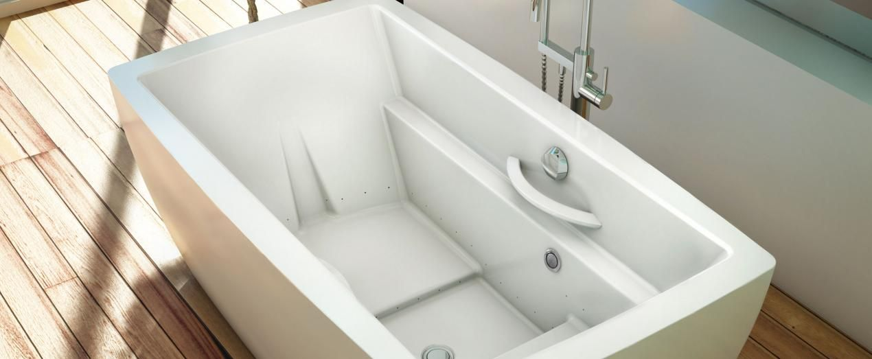 Bainultra Essencia® 6838 freestanding air jet bathtub for your ...