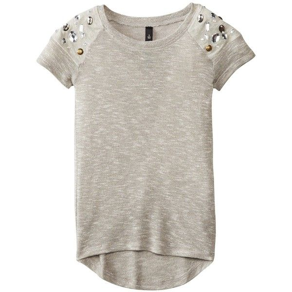 Jessica Simpson Tween Girl's 7-16 Savannah Hacchi Tee (48 CAD) ❤ liked on Polyvore featuring 7-16
