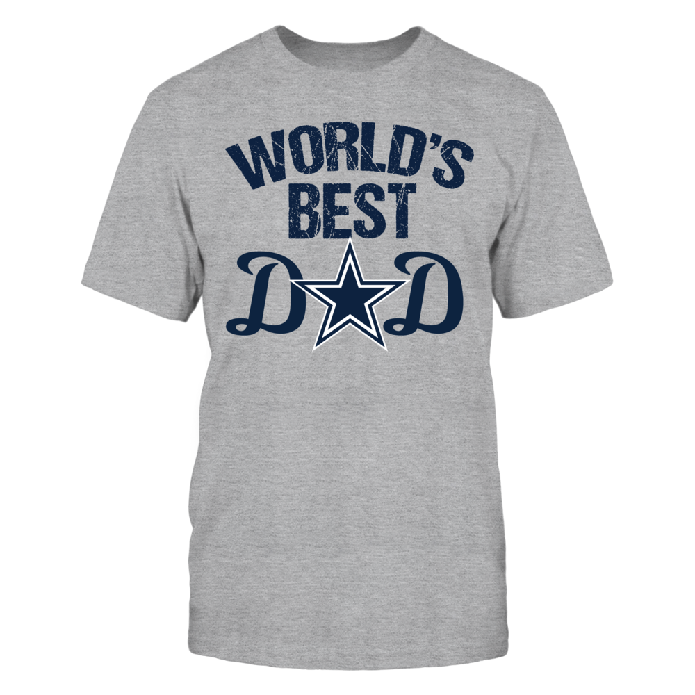 36af343ff Dallas Cowboys World s Best Dad. New father s day shirt with Cowboys star  logo. Cool football Dallas Cowboy fan gift for your father