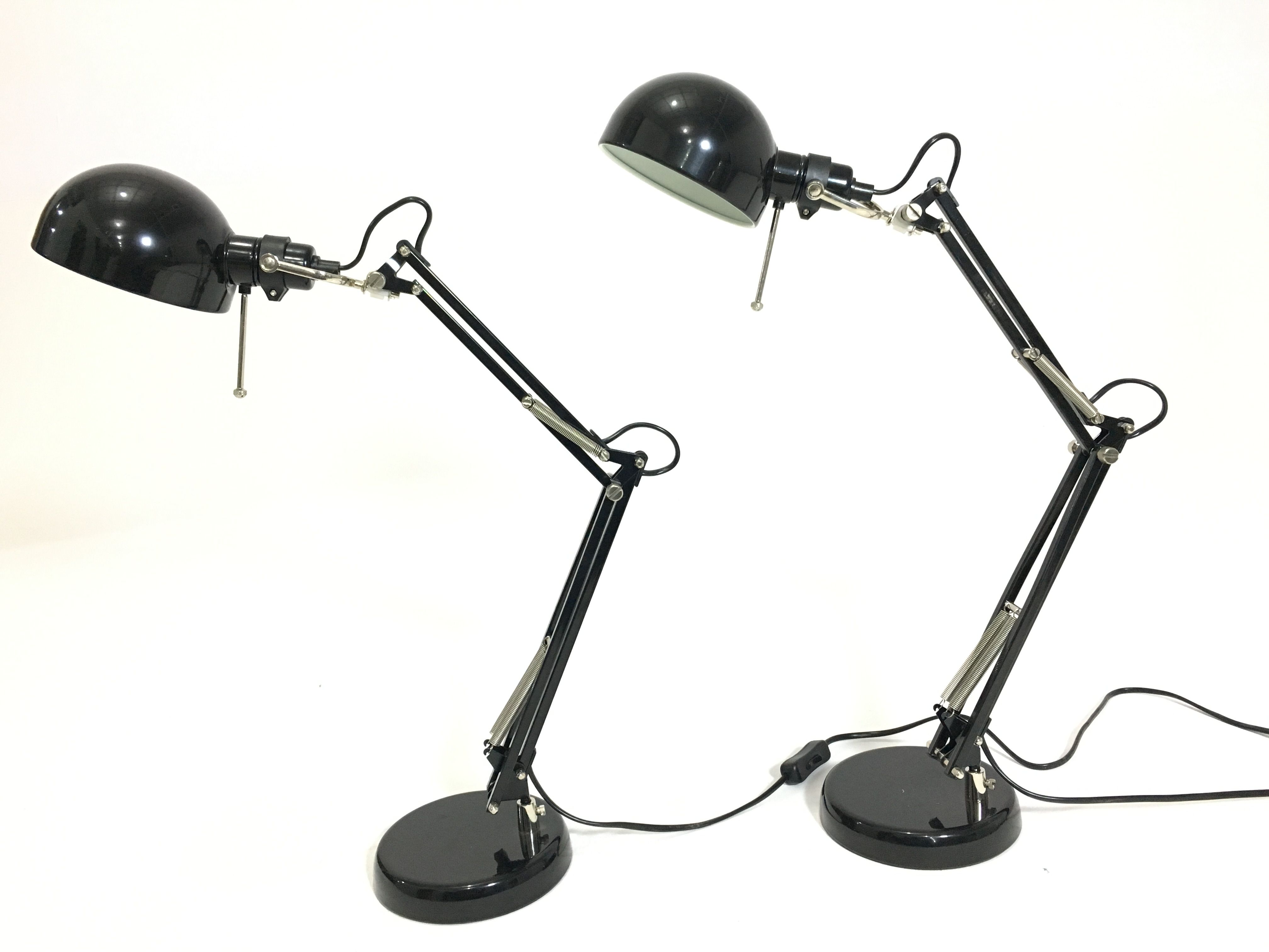Py 5344 Study Lamp Black 3 Spring Adjustable Black Shade H24 Xw6 Xd16 2pics With Images Lamp Study Lamps Black Lamps