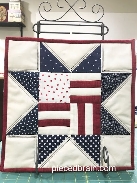 Fourth of July Mini Quilt #starquiltblocks
