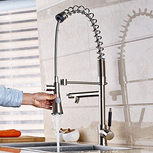 Oulantron Deck Mount Tall Two-water Model Spray Kitchen Sink Faucet ...
