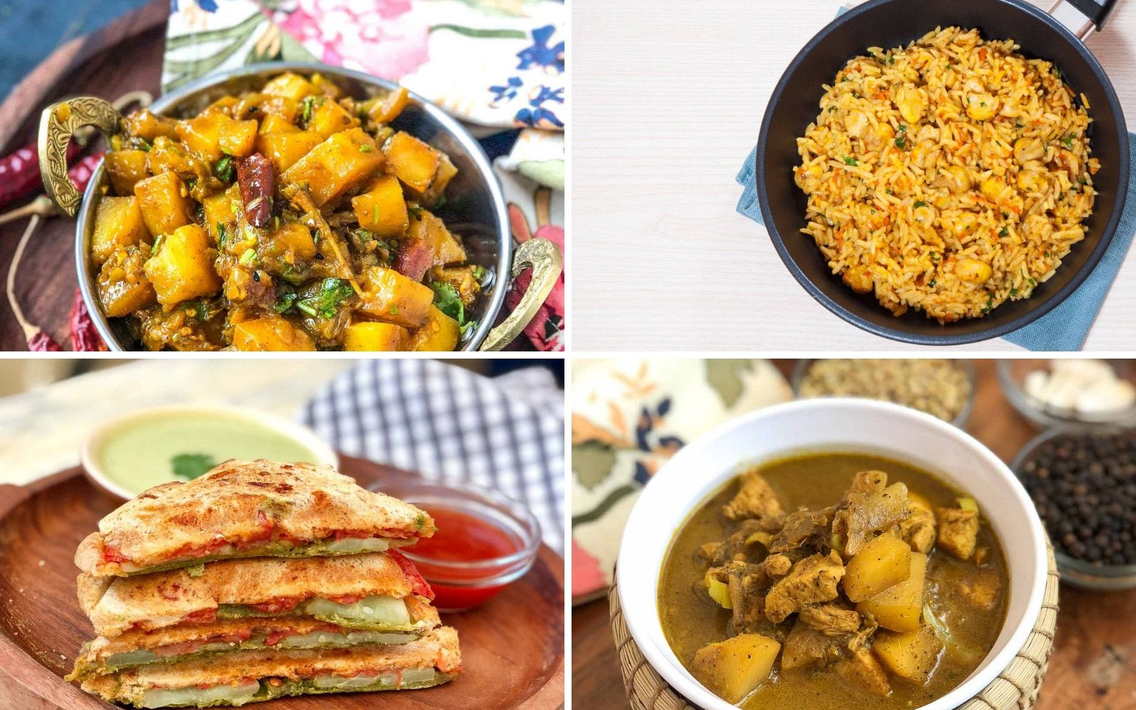 Weekly Meal Plan - Mushroom Pulav, Thai Yellow Curry And
