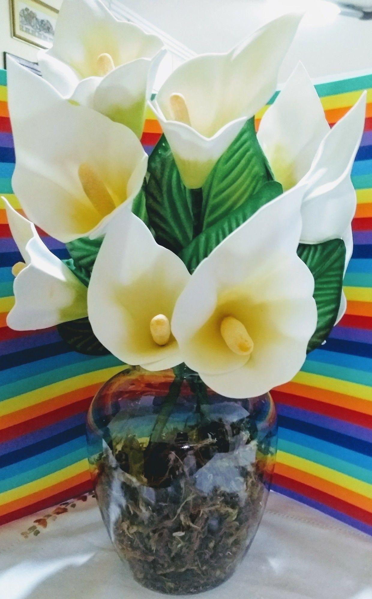 Copos De Leite Em Eva Flores Em Eva Flores Arranjos