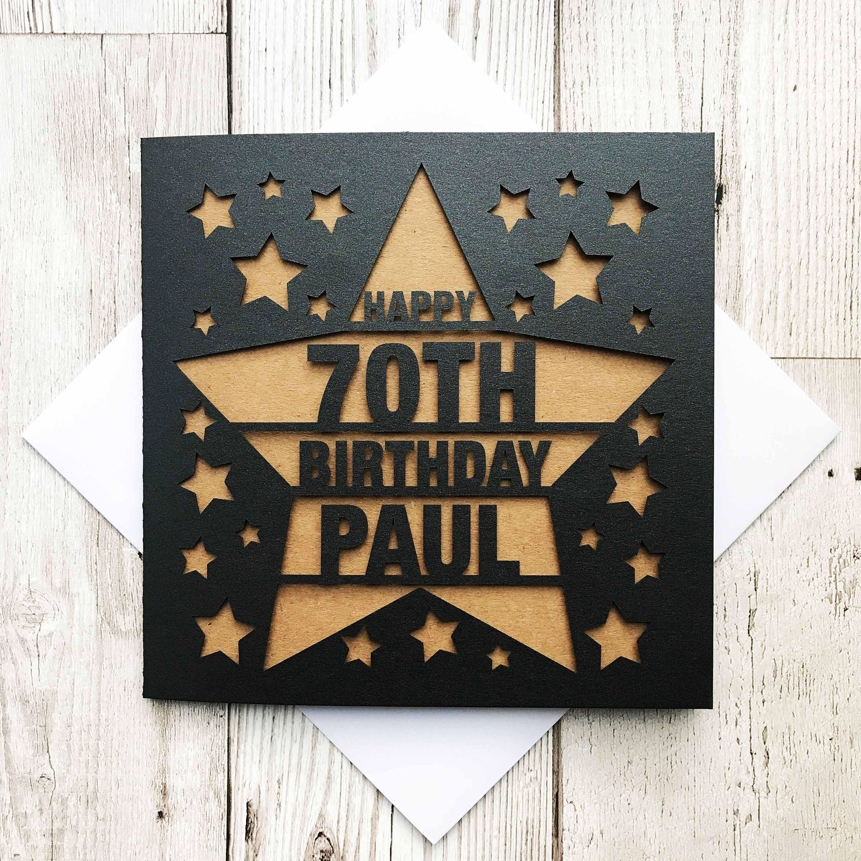 Personalised happy 70th birthday happy 70th 70th birthday cards personalised happy 70th birthday happy 70th 70th birthday cards laser cut birthday bookmarktalkfo Image collections