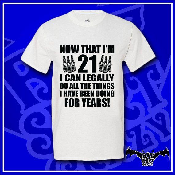 21st Birthday Gift For Him By BatShirtCrazy