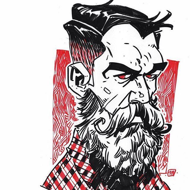 INKTOBER 22.10 Daily Sketches Nummer ►1785 #AndreM #dailysketches #mdailysketches #brushpen #art #sketch #graphic #inktober #inktober2016 #ds #sketchbook #illustrator #beard #man