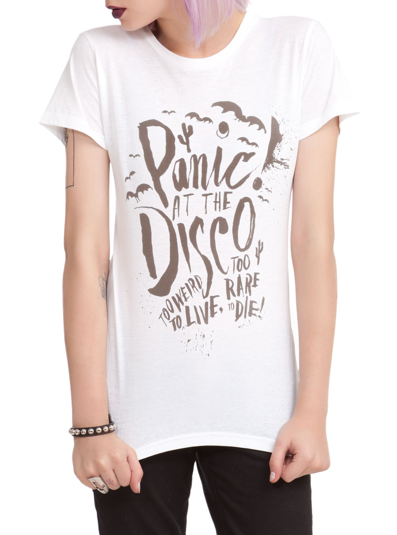 bc8d0f5b Panic! At The Disco Too Weird Girls T-Shirt   Hot topic   Funny ...