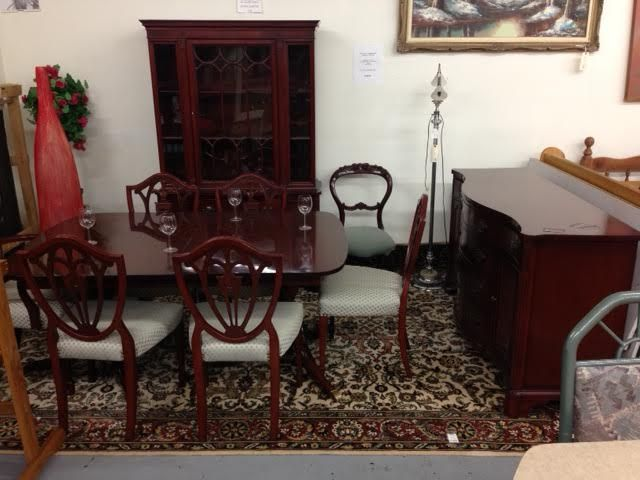 Stunning Andrew Malcolm Mahogany Dining Set 2400 Sets Like