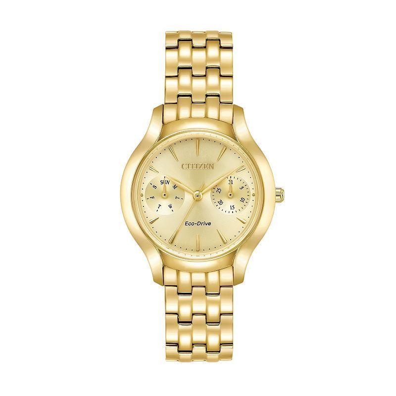 Citizen Eco-Drive Women's Chandler Stainless Steel Watch - FD4012-51P, Yellow