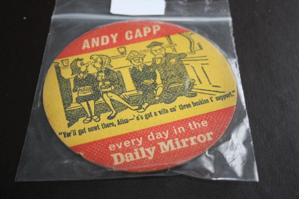 Old Beermat Daily Mirror Andy Capp (1W32) 8/14