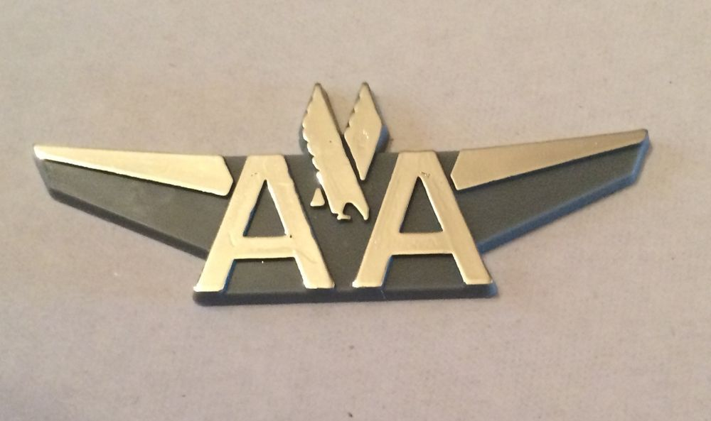 Vintage American Airlines Junior Pilot Wings Wing Plastic
