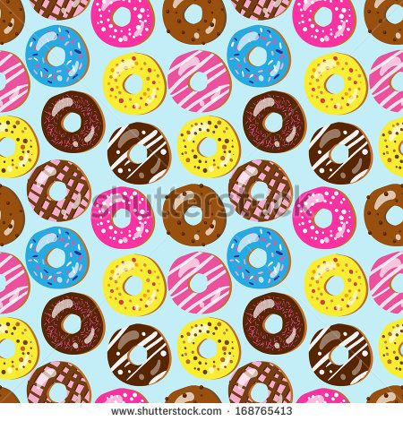 Donut background food donut pattern phone wallpaper