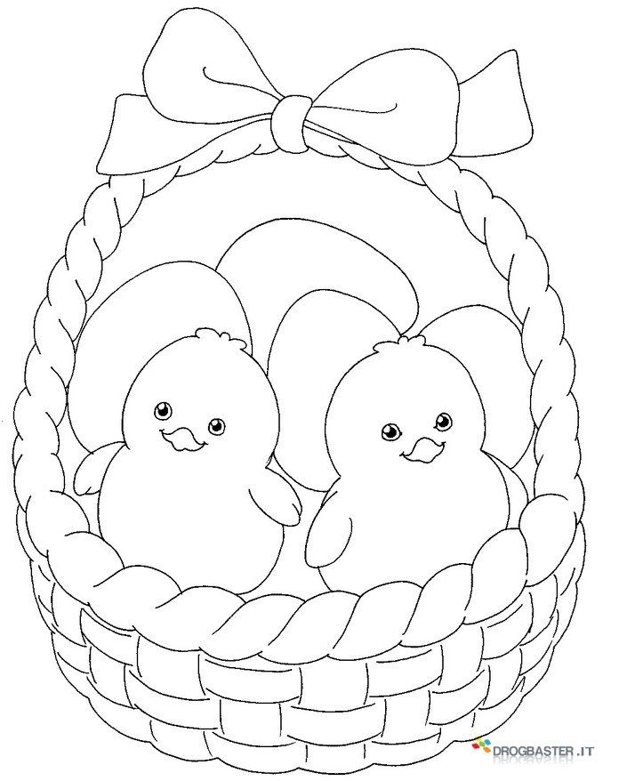 Stampa E Colora I Disegni Di Pasqua Speciale Pasqua Con Uova