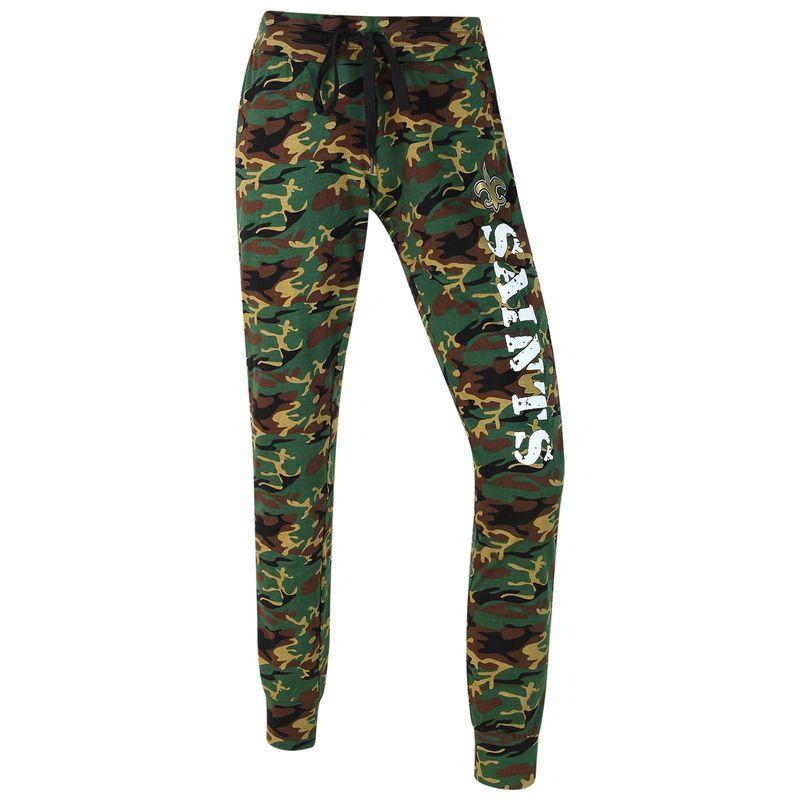 a58105132 New Orleans Saints Concept Sports Women s Knit Camo Pants - Camo ...