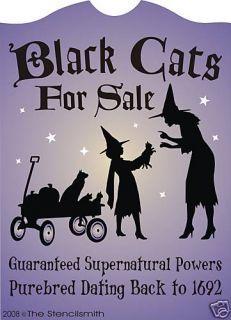 Wooden Sign Black Cat Fortune Telling Salem Ma Primitive Wood