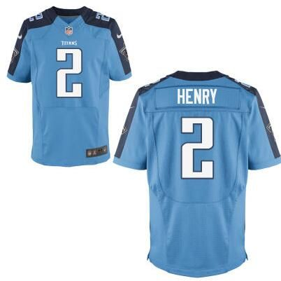 Tennessee Titans  2 Derrick Henry Light Blue Elite 2016 Draft Pick Jersey.  New Nike Titans 10 Jake Locker Nike Elite Jersey Blue Team Color NFL ... bab909454