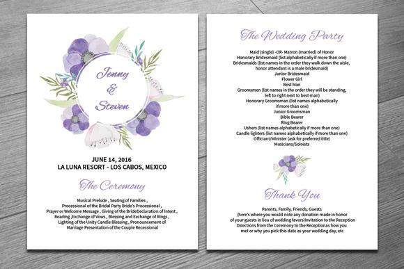 Wedding Fan Program Template  @creativework247