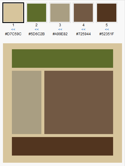Brown Green Color Scheme For Our Living Room Cream Is The Of