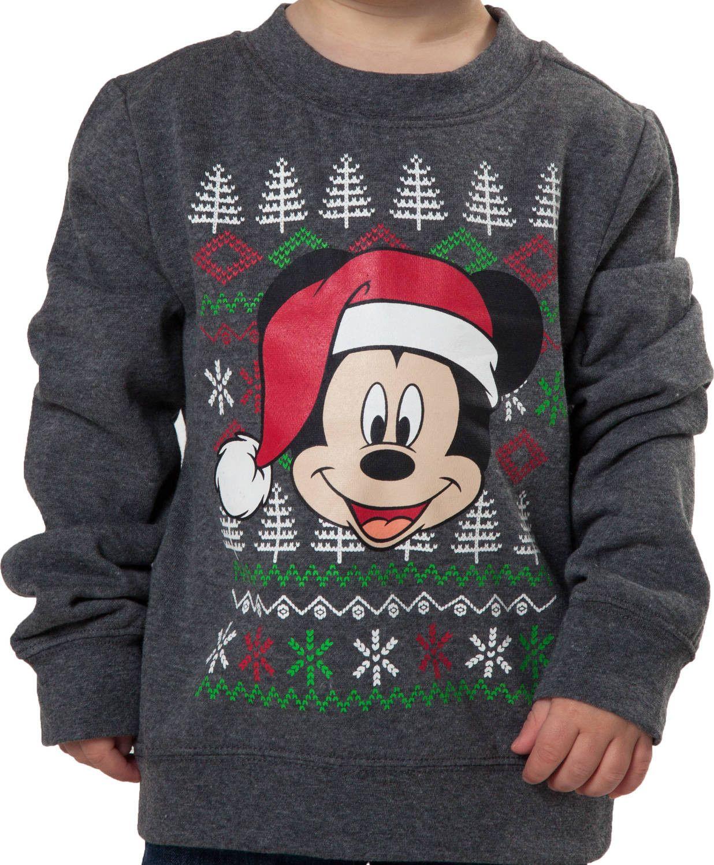Toddler Mickey Mouse Christmas Sweatshirt Disney Stuff Ideas
