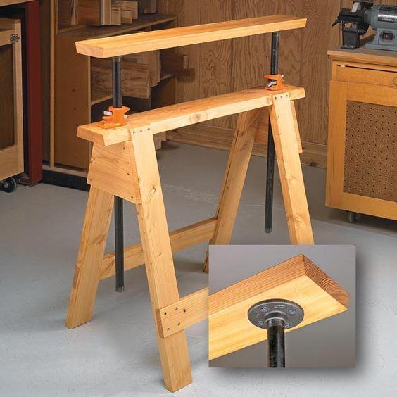 Adjustable Sawhorses Learn Woodworking Woodworking Sawhorse