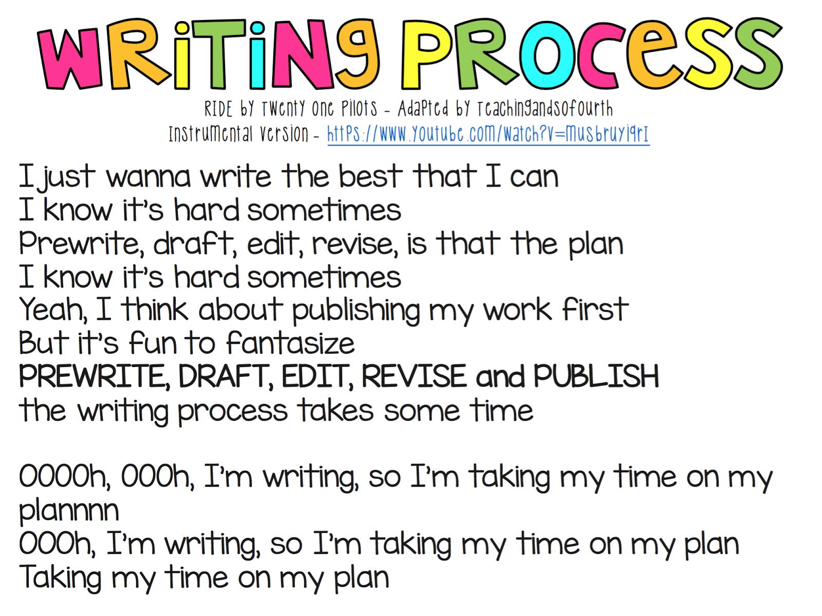 Writing Process Song