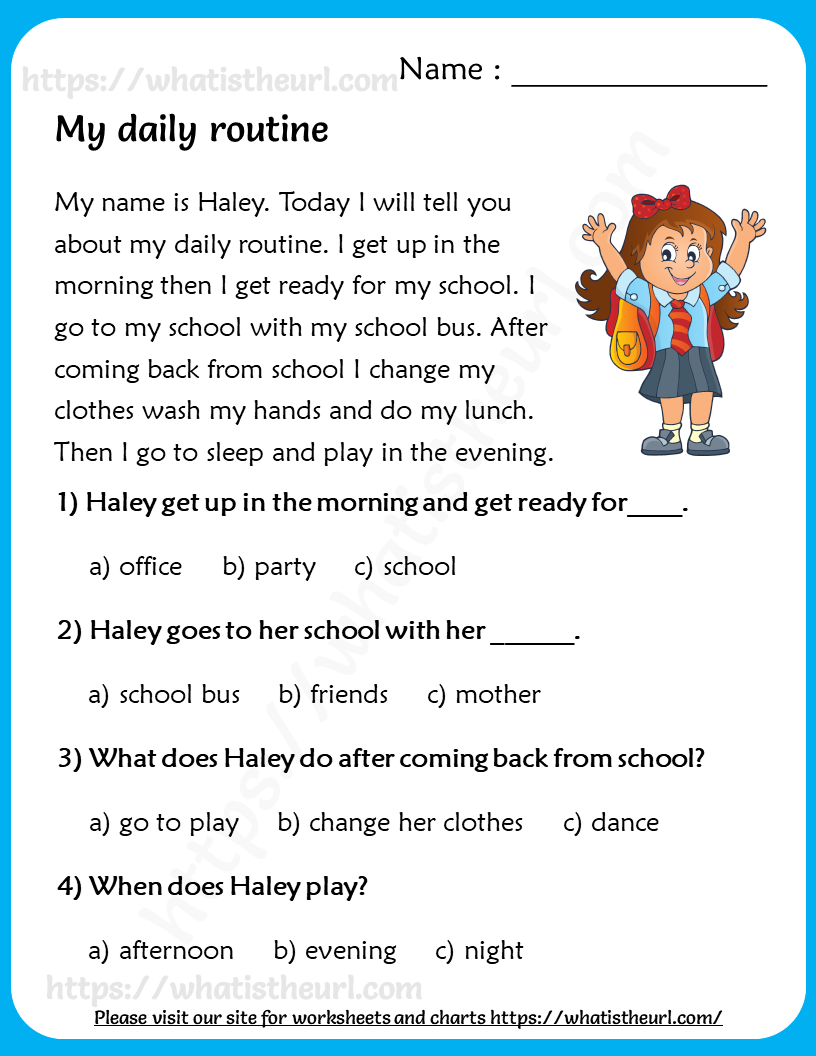 Reading Comprehension For Grade 3 Your Home Teacher Reading Comprehension Reading Comprehension For Kids English Reading [ 1056 x 816 Pixel ]