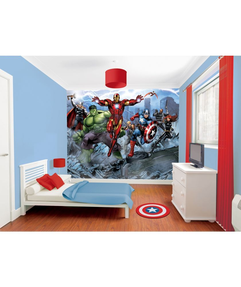 749c67811ad Buy Walltastic Avengers Assemble Wall Mural at Argos.co.uk - Your Online  Shop for Wallpaper, samples, borders and wall stickers.