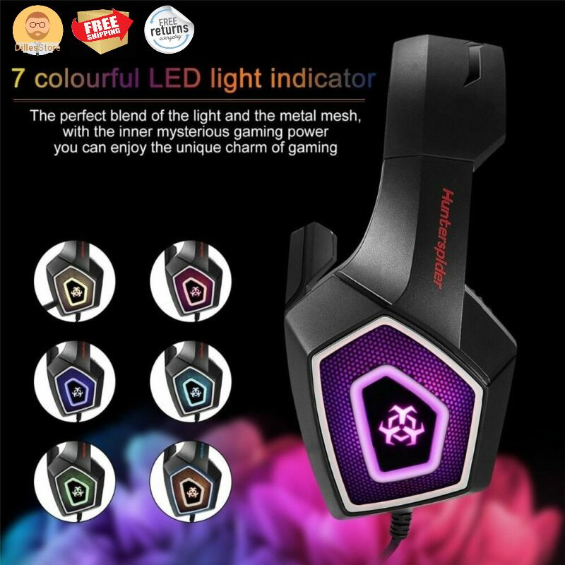 Fortnite Gaming Headphones Microphone LED Lights for XBOX
