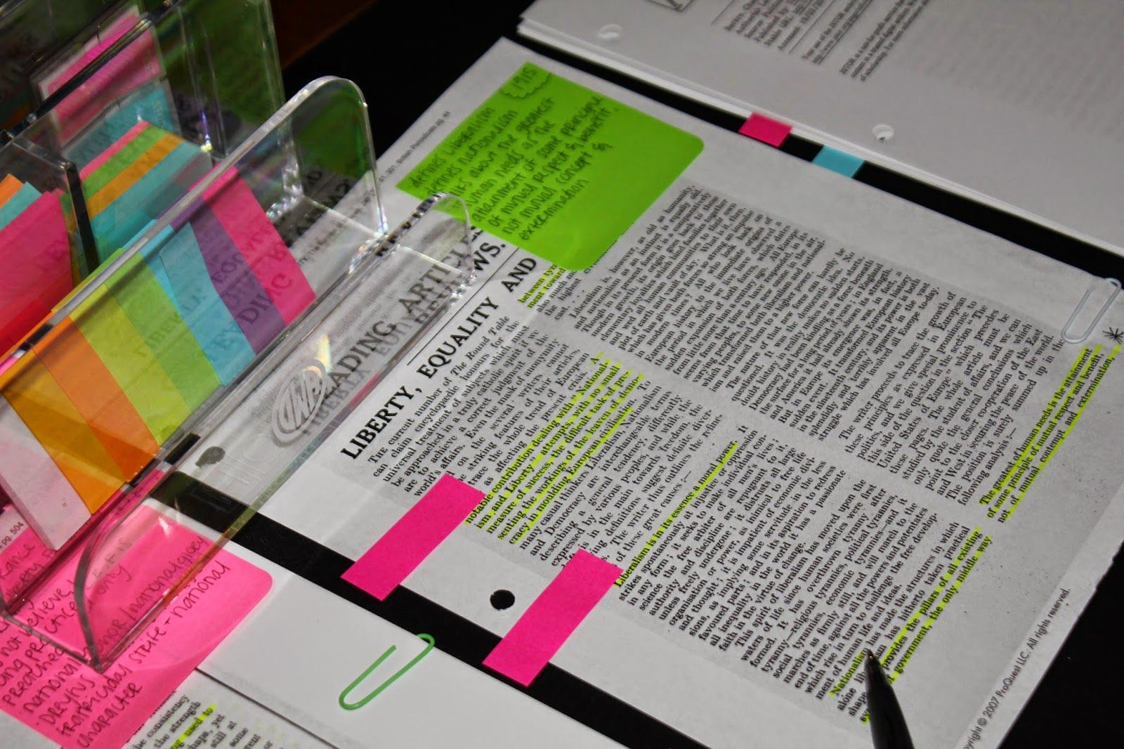 Masters thesis research notes organization