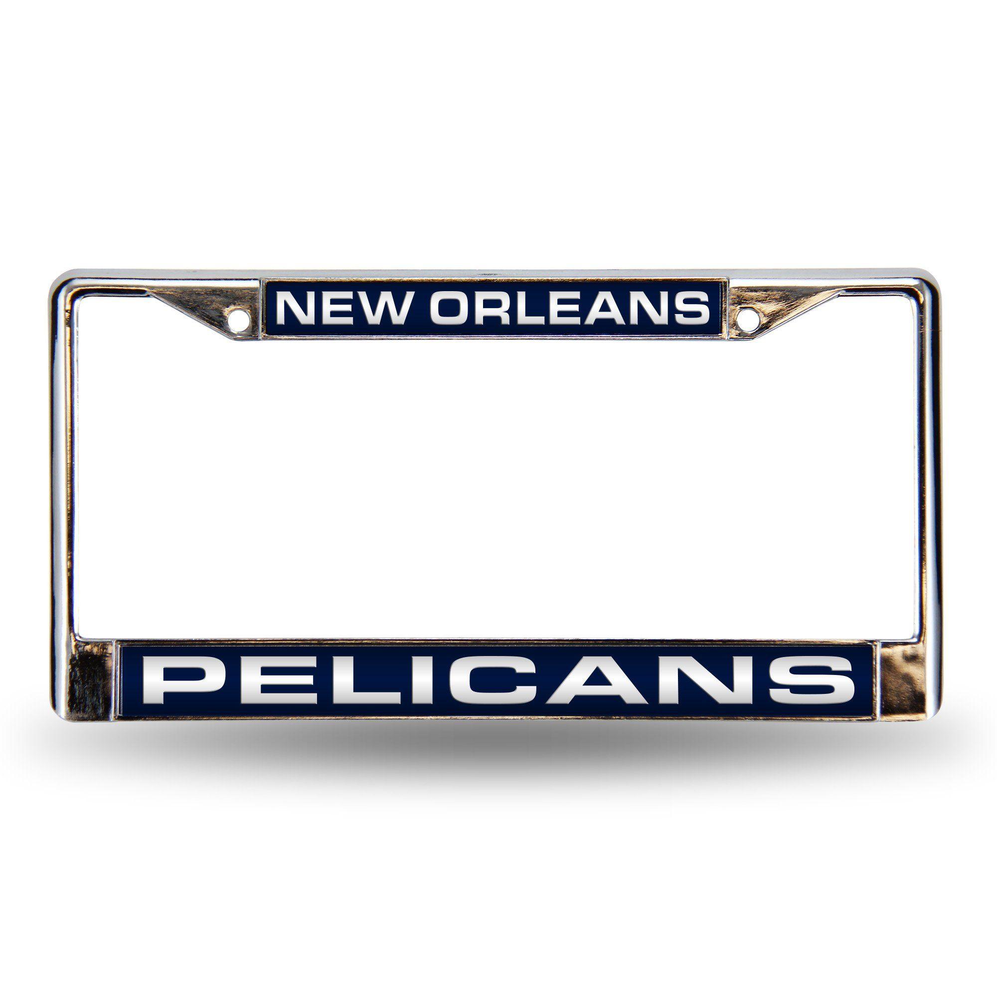 New Orleans Pelicans Laser Chrome Frame License Plate