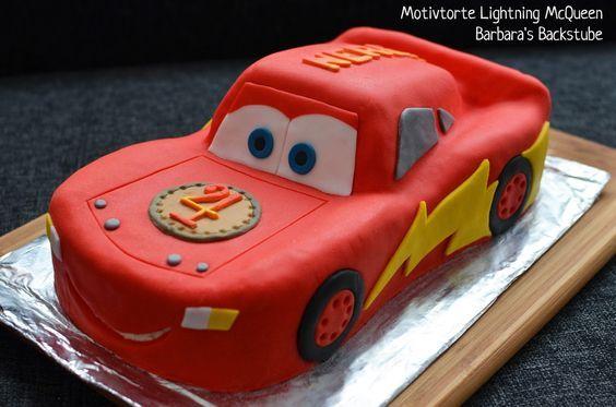 Barbara\u0027s Backstube Lightning McQueen Torte (Mandelbiskuit mit  Beerenfüllung) Dieses Rezept klappt super. Alles ist auch für den Laien  beschrieben.