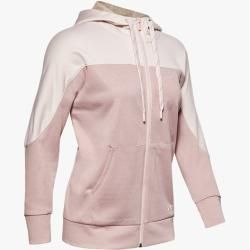 Photo of Under Armor Women's Ua Recover knitted shirt with full zip Pink Md Under Armor