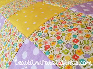 Make In A Day Baby Quilt - free fully illustrated instructions ... : free patchwork cot quilt patterns - Adamdwight.com