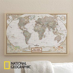 Amazon personalized canvas world maps for executives from amazon personalized canvas world maps for executives from national geographic home gumiabroncs Gallery