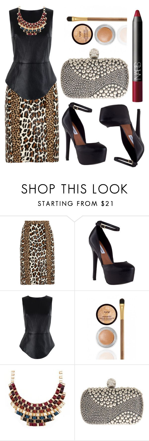 """""""Animal Prince"""" by rock-with-me ❤ liked on Polyvore featuring Burberry, Steve Madden, TIBI, tarte, Alexander McQueen, NARS Cosmetics, SimpleOutfits and rocker"""