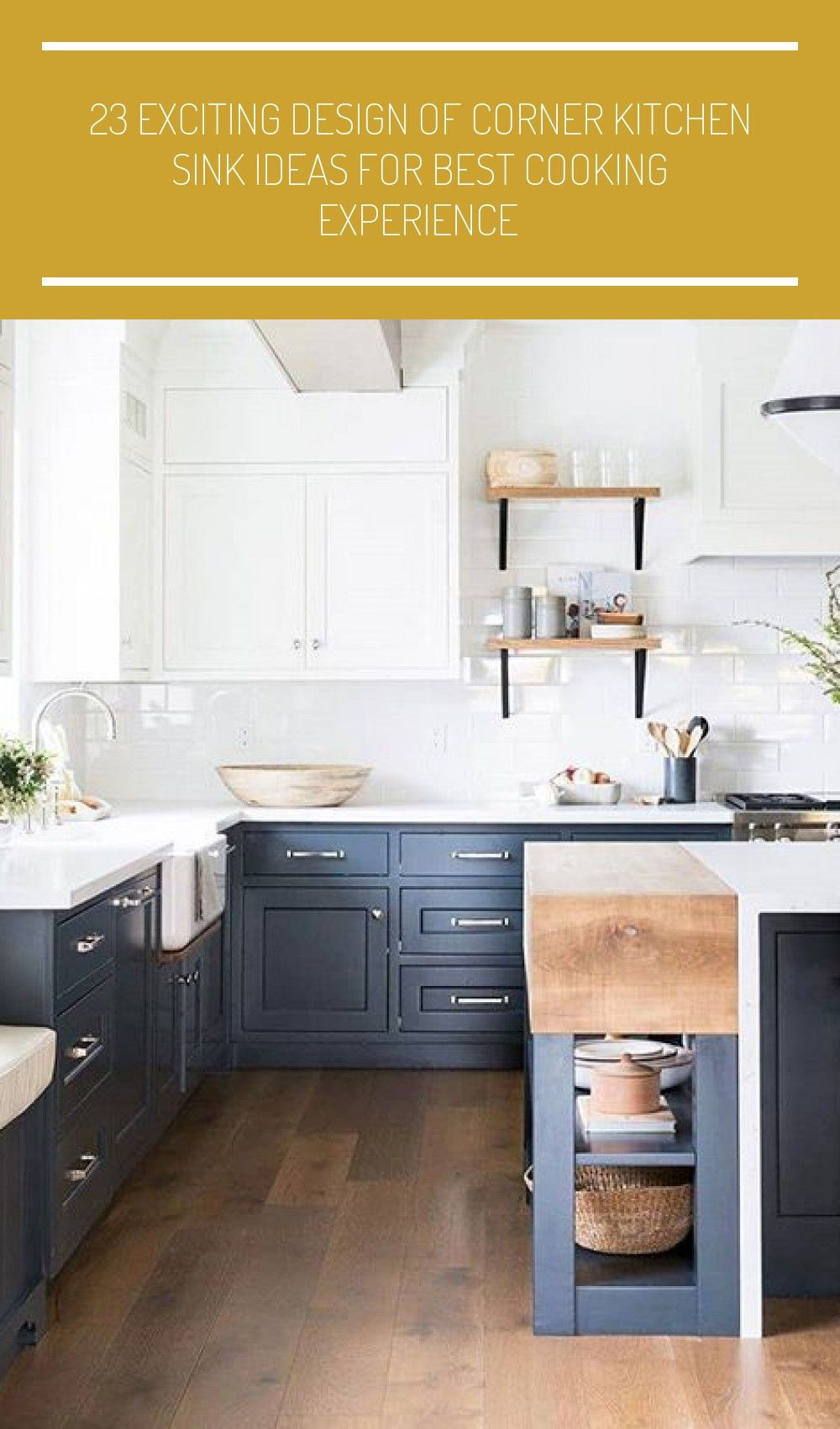 Kitchen styling ideas with grey blue lower white